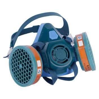 цена на 2020 New Anti-saliva Dust-proof Half Face Respirator Dust Gas Mask for Painting Spray Pesticide Chemical Smoke Fire Protection