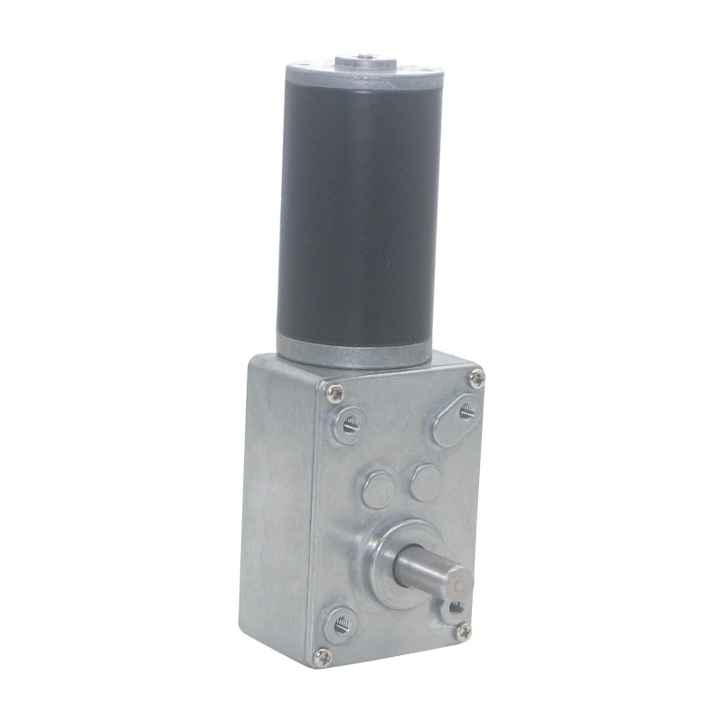 12V,50RPM Worm Gear Motor,High Torsion Speed Reduce Electric Gearbox Motor Reversible Worm Gear Motor 8mm Shaft 12V