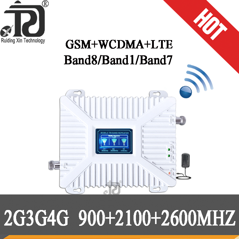 900 2100 2600 Mhz 4G Signal Booster 2g 3g 4g Mobile Signal Booster Repeater LTE Wcdma Gsm Cellular Signal Booster 4G Amplifier
