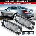 Подходит для Mercedes-Benz w203 5d w211 w219 r171 светодиодный светильник номерного знака без ошибок светодиодный номерной знак белый светильник