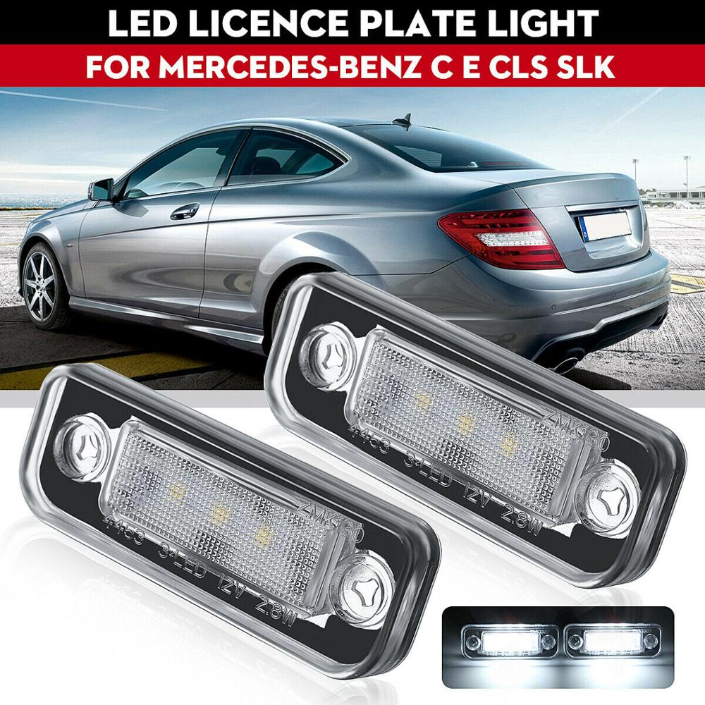 Suitable For Mercedes-Benz W203 5d W211 W219 R171 Led License Plate Light Without Error Led License Plate White Light