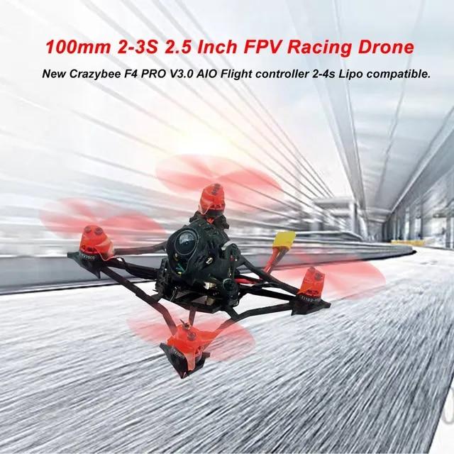 Larva X 100mm Crazybee F4 PRO V3 0 2-3S 2 5 Inch FPV Racing Drone BNF w Runcam Nano2 Camera Compatible Flysky Receiver
