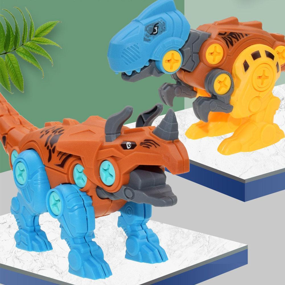 Nut Assembling Dinosaur Toy Dinosaur Egg With Screwdriver Diy Assembly Disassembly T Children's Educational Of Tyrannosauru