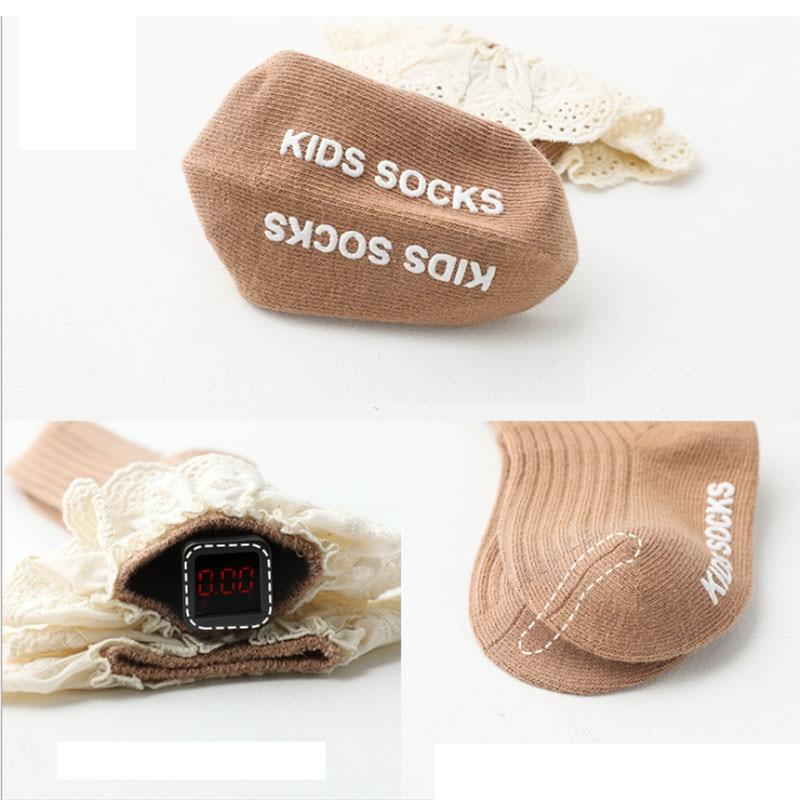 Baby socks New Kids Toddlers Girls  Knee High Long Soft Cotton Lace Baby Children Socks Baby Girl socks 0 to 3 years 6