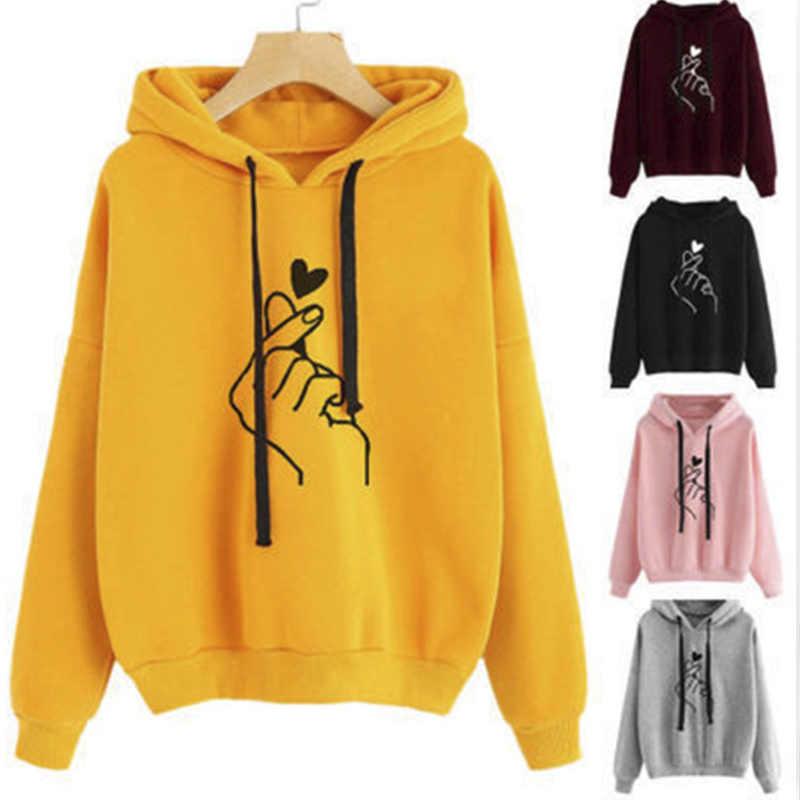 Женские толстовки с капюшоном, толстовка большого размера, пуловер Kawaii, флис, Harajuku, желтый топ с капюшоном, повседневный Женский Повседневный свободный джемпер, DFM-4500