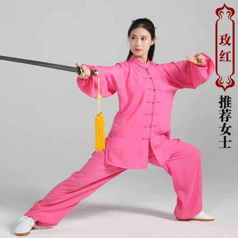 Musim Panas Perempuan Alami Laki-laki Poliester Bermutu Tinggi Seni Bela Diri Tai Chi Seragam Bela Diri Seni Pakaian