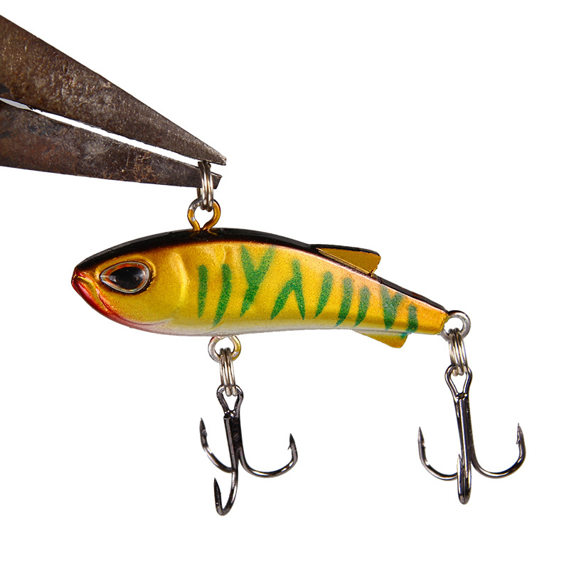 Sinking Mini VIB Fishing Lure 4.5cm 4g Vibration Artificial Baits Winter Ice Fishing Wobblers Bass Crankbait Fishing Tackle