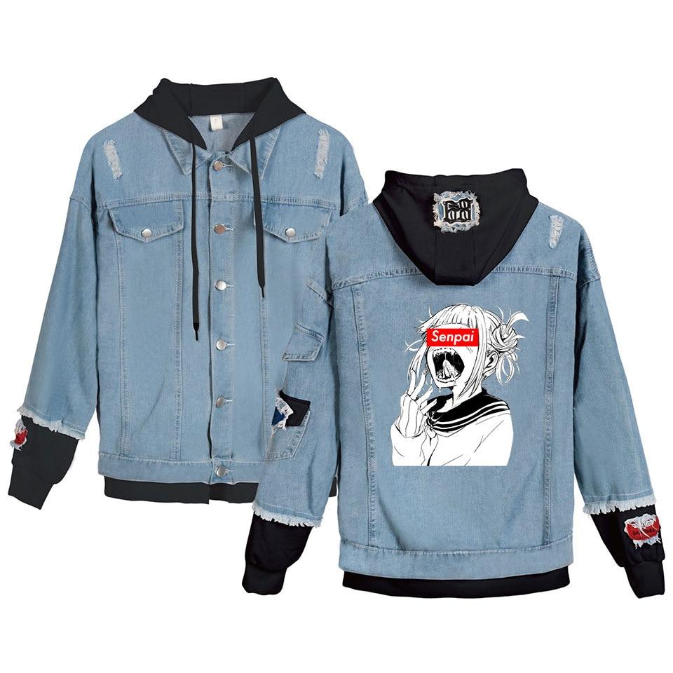 My Hero Academia jacket custom denim painted denim jacket Himiko Toga jacket My Hero Academia