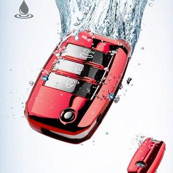 TPU Car Remote Key Full Cover Case Keychain For KIA K2 K3 K4 K5 Rio QL Ceed Sorento Cerato Sportage Auto Key Protect Shell Case silicone key cover for kia rio k2 k5 sportage sorento fit i20 i30 i35 ix20 ix35 solaris verna folding key case