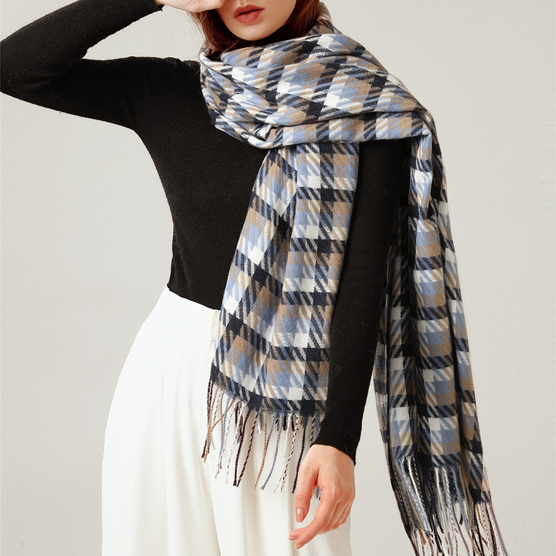 scarf female warm autumn, 2020 new hot-selling plaid warm scarf, thick street style, around the shawl for women палантин женский