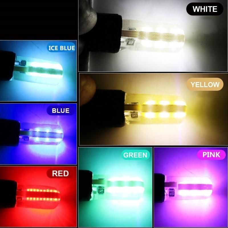T10 w5w cob 1w canbus escudo de silicone conduziu a luz do carro side cunha lâmpada placa de licença lâmpada 12v acessórios do carro txtb1