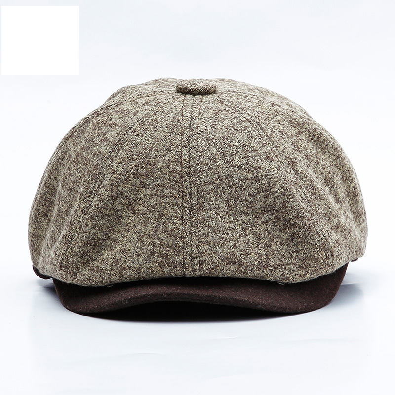 Winter Peaky Blinders Warm Flat Peaked Cap Male Casual Octagonal Hat Man Restore Beret Hat Male Dad Newsboy Cap