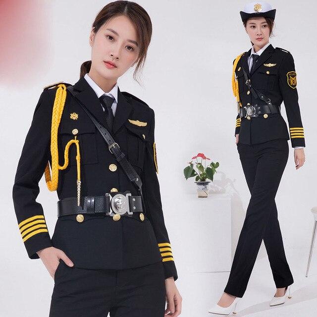 2020 seguridad mujer uniforme primavera otoño trajes señora bienes raíces Venta Ropa ceremonia servicio uniforme ropa de trabajo