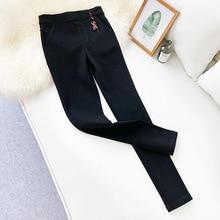 Wasteheart Autumn Winter Women Fashion Black Long Pants Pencil High Waist Female Casual Plus Size Pockets