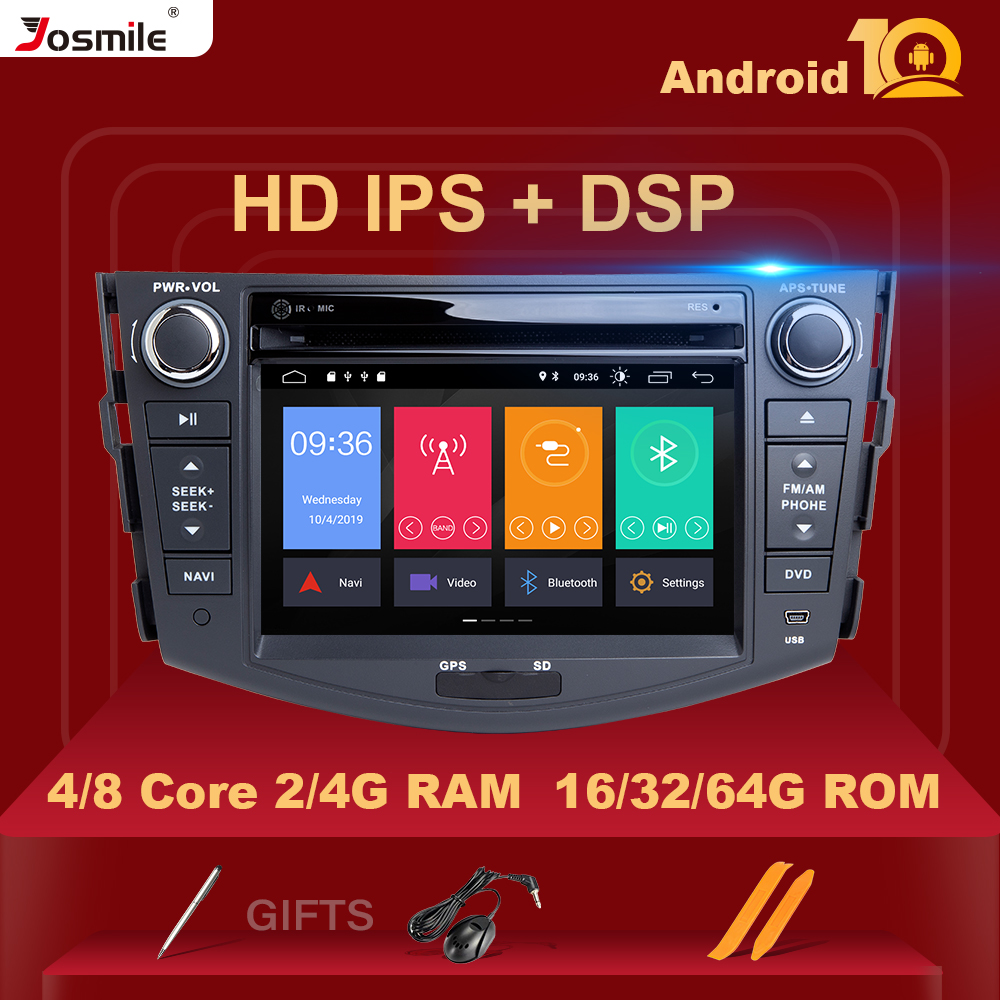 Android 10 2 din Car Radio Car DVD Player For <font><b>Toyota</b></font> <font><b>RAV4</b></font> Rav 4 2006 2007 2008 2009 <font><b>2010</b></font> 2011 2012 GPS Navigation Wifi OBD2 TV image