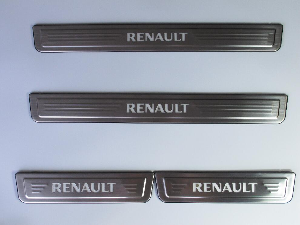 Stainless Steel For Renault Koleos 2017 Led Auto Door Sill Protector Illuminated Door Sills Scuff Plate Guard Car Styling Fast S