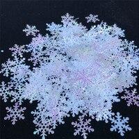 Decoraciones de Navidad 200/300 Uds Artificial decoraciones de copos de nieve fiesta DIY hecho a mano Casa Familia decoraciones para bodas cumpleaños