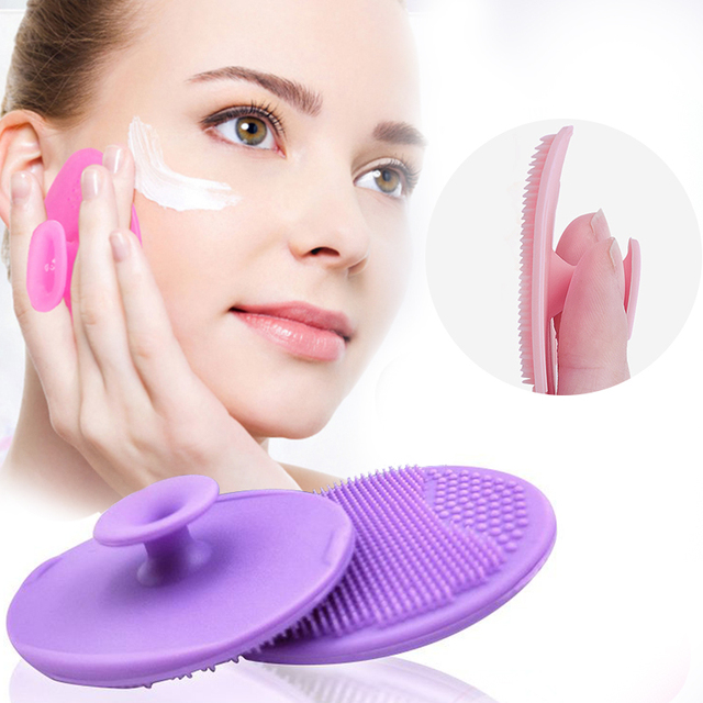 Facial makeup sponge Cleanser Blackhead Facial Clean Silicone Shampoo Brush Shower Massage Wash Pad Face Exfoliating Brushes 2