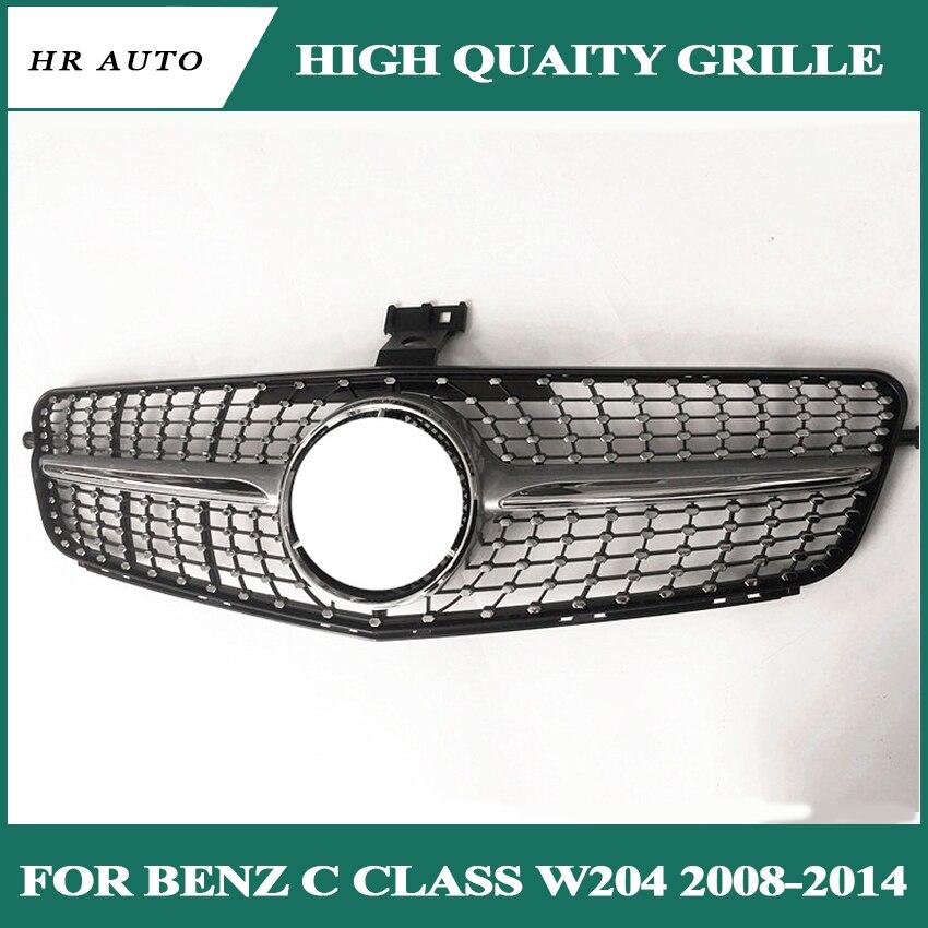 For Mercedes W204 C-CLASS C200 C300 C350 2008-2014 Matte Black Front Sport Grill
