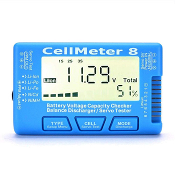 Cell meter 8 multifunction 2-8s electric display lithium battery voltage electric quantity display balance actuator tester