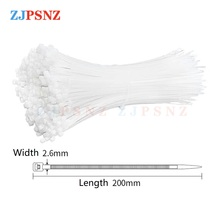 Fasteners Cable Wire-Zip-Ties Self-Locking Plastic 100pcs Length-200mm-Width Set Hardware