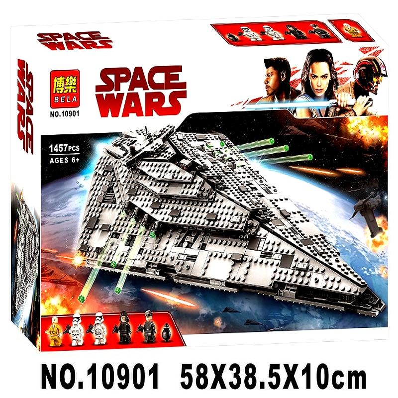 Bela 10901 Eerste Orde Star Destroyer Costruzion Model 1457 Pcs Compatibel Met Lepining Starwars Bouwstenen Bricks Speelgoed