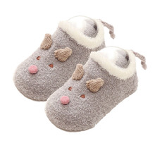 2020 новый новорожденный ребенок девочка нескользящий кружево хлопок носки тапочки обувь ботинки малыш младенец зима тепло животное мультфильм носки 6-24 мес.