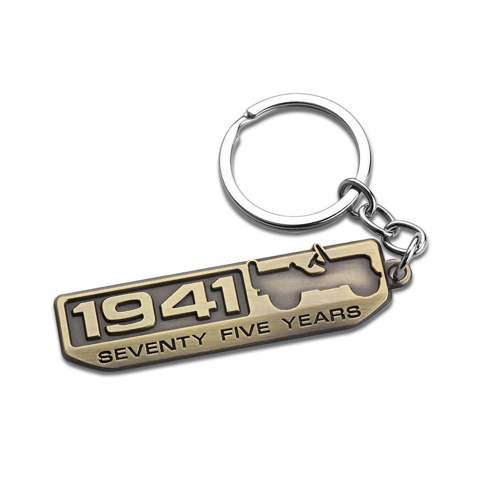 Car 3D Metal 1941 Badge Emblem Key Chain Key Ring For JEEP Renegade Patriot Wrangler Cherokee Compass GrandCherokee Trail