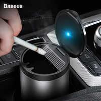 Baseus Per Auto Portatile Posacenere con la Luce del LED Auto Fumo di Sigaretta Supporto di Tazza Del Vassoio di Cenere Per Auto Senza Fumo Posacenere Accessori Auto