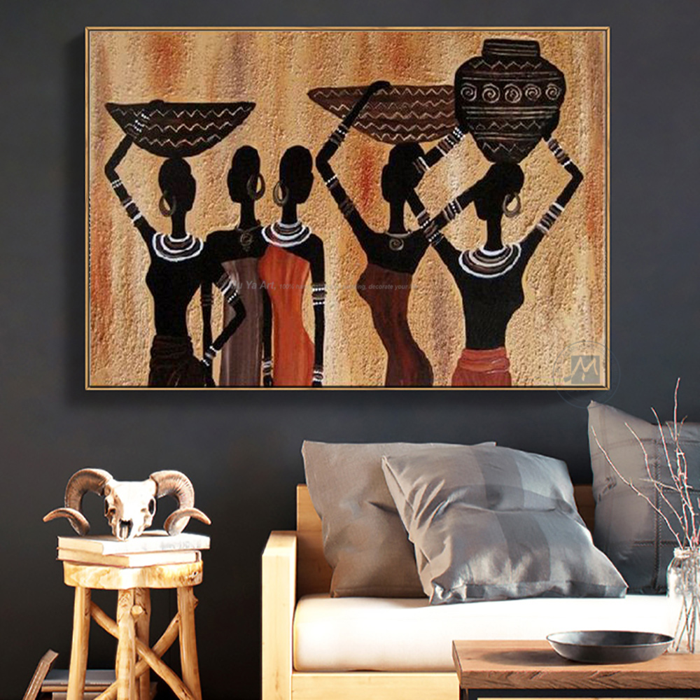Decorative Canvas Painting African Woman Oil Paintings Handmade Modern Paintings Mude Art Paintings For Living Room Wall Decor Nude Painting African Woman Paintingfemale Nude Painting Aliexpress