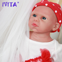 IVITA WG1524 50cm(20inch) 3.89kg Full Body Silicone Cute Reborn Baby Dolls Toy for Girls Eyes Opened Alive Boneca with Clothes