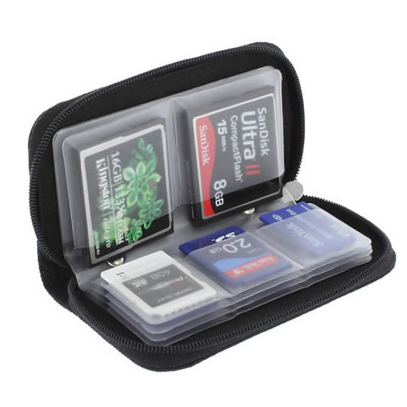 Memory Card Storage Bag Carrying Case Holder Wallet 22 Slots for CF/SD/Micro SD/SDHC/MS/DS Game Accessories memory card box 2