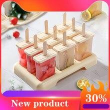 Molde de sorvete de verão caseiro molde de sorvete molde de picolé bandeja de molde de cozinha caixa de gelo conjunto diy acessórios