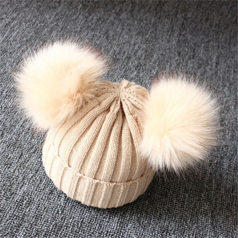 Winter-Warm-Baby-Hat-Double-Furry-Ball-Pompom-Children-s-Cap-Solid-Knit-Cap-For-Girls.jpg_640x640 (4)