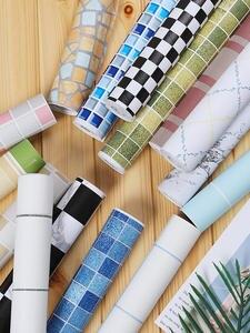 Bathroom Tiles Stickers Wallpapers Mosaic Self-Adhesive Vinyl Home-Decor PVC Waterproof