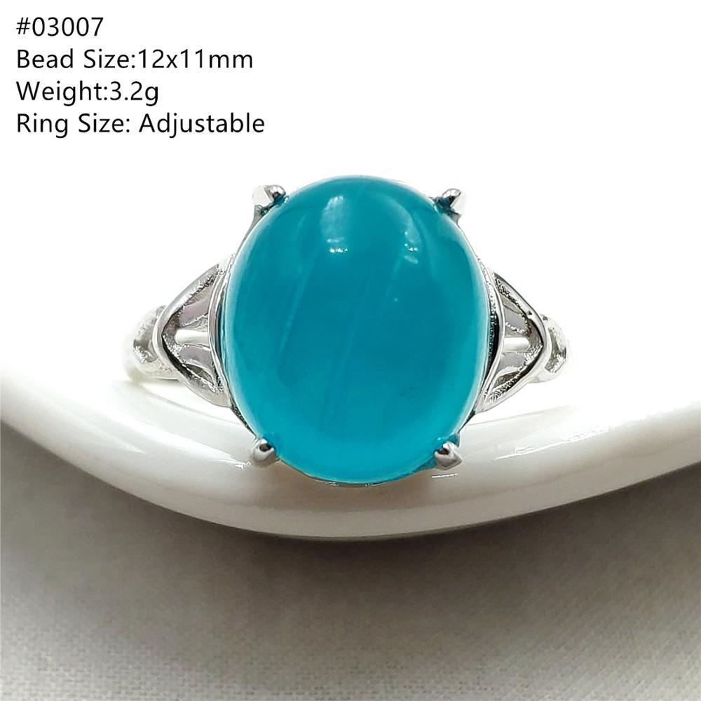 Natural Green Ice Amazonite Gemstone 925 Sterling Silver Adjustable Ring Woman Man Love Big Beads Rings AAAAA