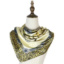 square scarf women femme silk touch 90cm leopard print neck hijabs fashion shawls invierno mujer satin shawl