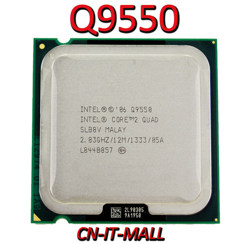 Intel Core Q9550 CPU 2.83G 12M 4 Core 4 Thread LGA775 Processor
