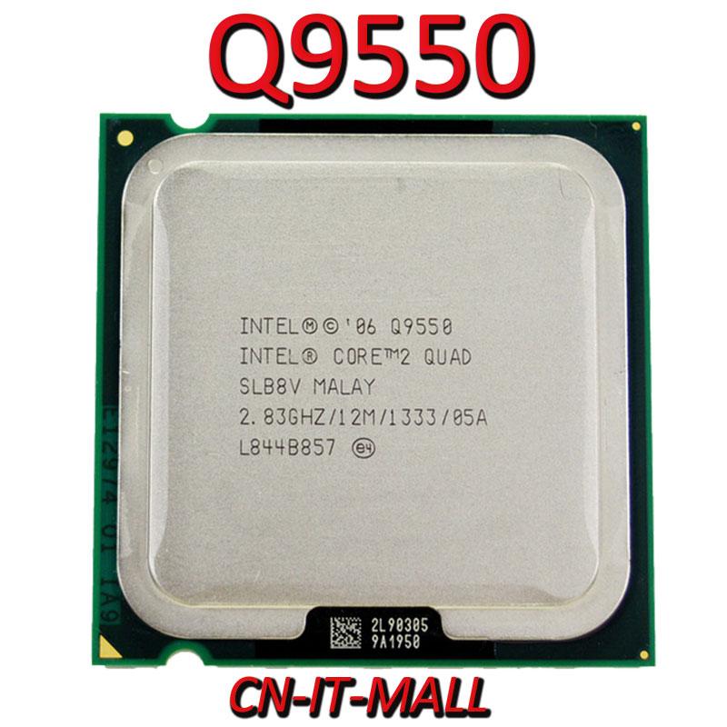 Intel Core Q9550 CPU 2.83G 12M 4 Core 4 Thread LGA775 Processor
