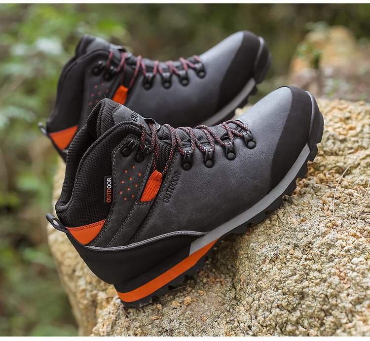 2020 Spring Waterproof Hiking Shoes Men Non-slip Mountain Climbing Shoes Outdoor Hiking Boots Men Hunting Trekking Sneakers Men