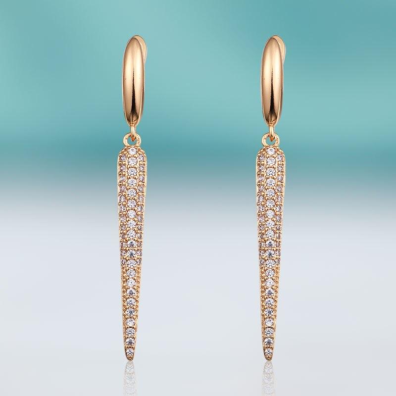 MAIKALE New Fashion Cute Zircon Stud Earrings for Women Cubic Zirconia Gold Earing Geometric Clip on Earring Jewelry Gift