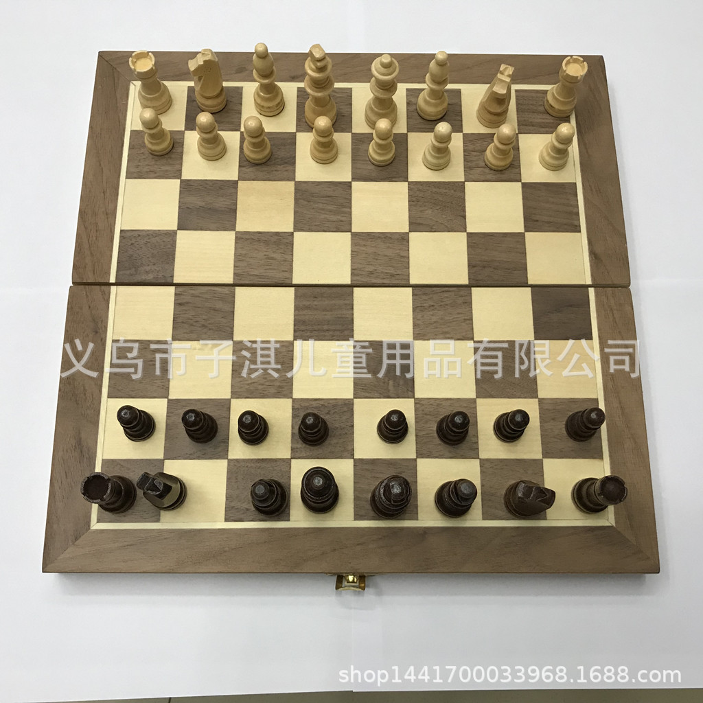 Supply Chess Game Wooden Box Magnetic Chess Set <font><b>30*15*5</b></font> Cm Chess image