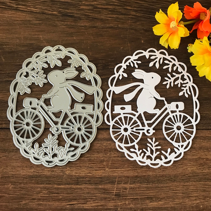 Easter Bunny Cycling Metal Cutting Dies Stencil Scrapbooking DIY Album Stamp Paper Card Embossing Decor Craft New for 2021
