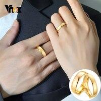 Vnox-anillos de boda de tungsteno para parejas, Color dorado, antiarañazos, carburo de tungsteno, unisex, para fiesta de aniversario