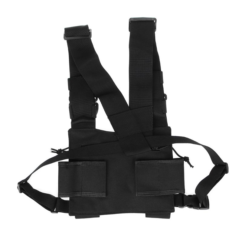 Chest Harness Chest Front Pack Pouch Holster Vest Rig Carry For Two Way Radio For Baofeng TYT Wouxun Motorola Walkie Talkie