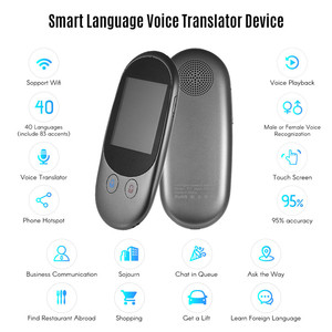 Image 2 - נייד חכם מיידי קול מקוונים מתורגמן אמיתי זמן רב שפות מיני תרגום כלי עם מצלמה סריקה מתורגמן