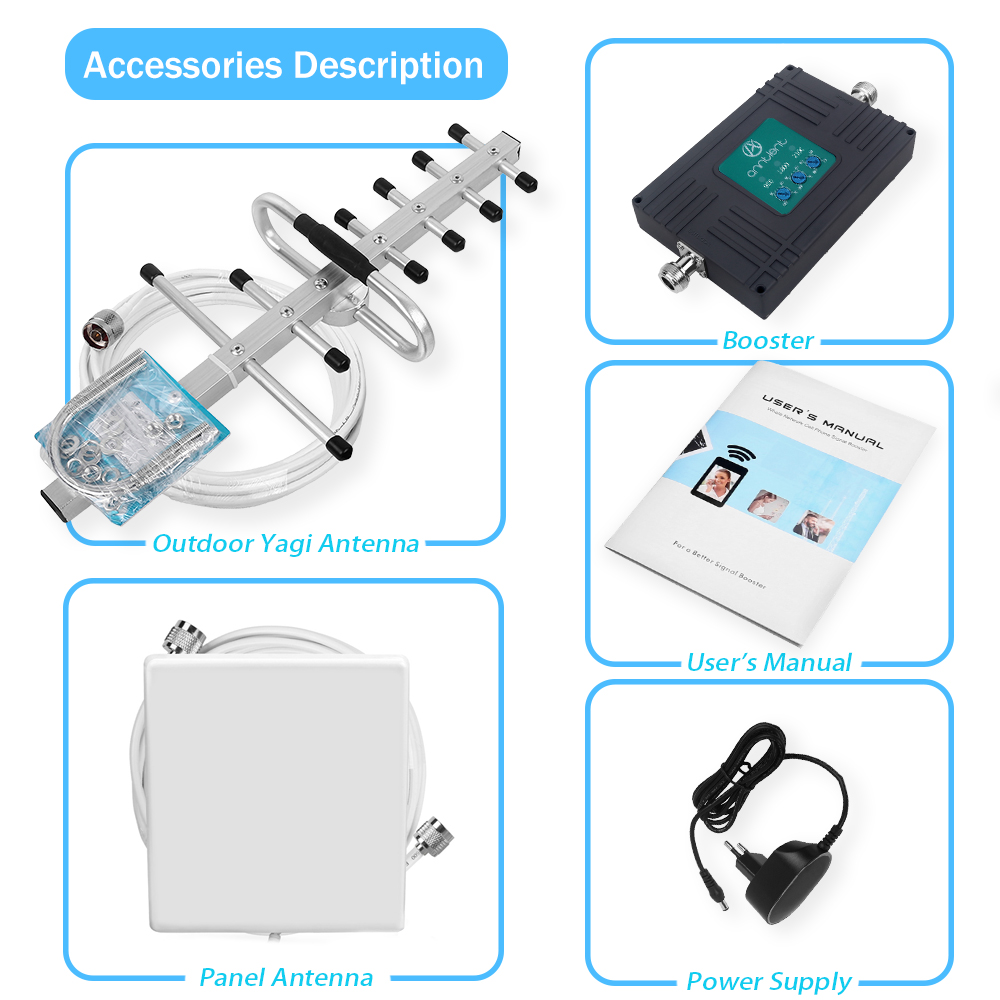 Image 5 - GSM 4G Repeater 900/1800/2100 2G 3G 4G Signal Booster Mobile Phone DCS LTE 1800 WCDMA 2100 Tri Band Cel Phone cellular Amplifier-in Signal Boosters from Cellphones & Telecommunications