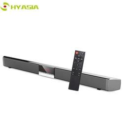 HYASIA LED TV Soundbar Wireless Speaker Bluetooth 5.0 Sound bar Subwoofer Loudspeaker Home Theater Sound System AUX Coaxial USB