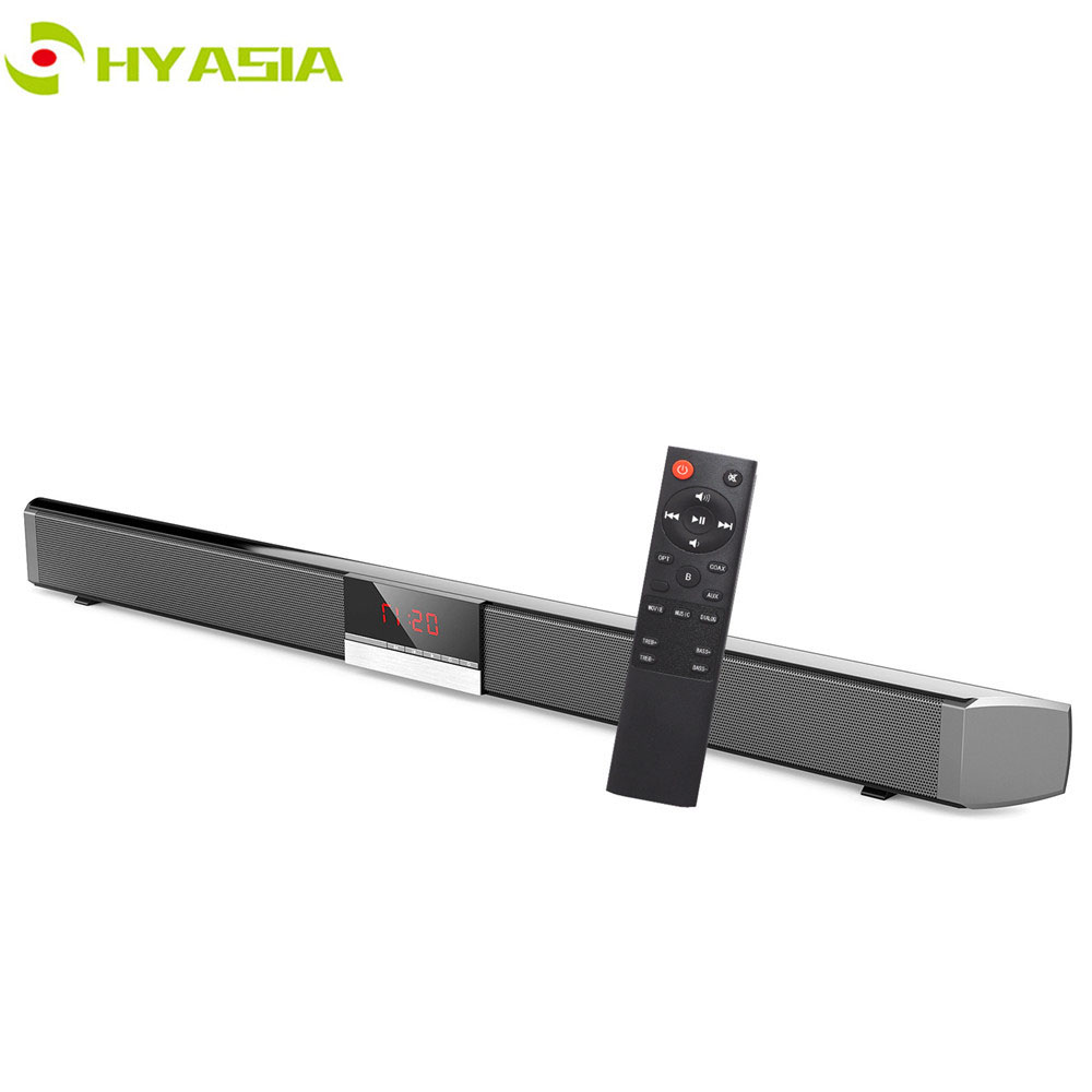 HYASIA LED TV Soundbar Wireless Speaker Bluetooth 5.0 Sound bar Subwoofer Loudspeaker Home Theater Sound System AUX Coaxial USB