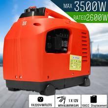3500 Вт бензиновый инверторный генератор, эффективный 3.5квт, бензиновый DC Аккумулятор, заряд чистой синусоидальной волны, внешний источник питания для хранения энергии